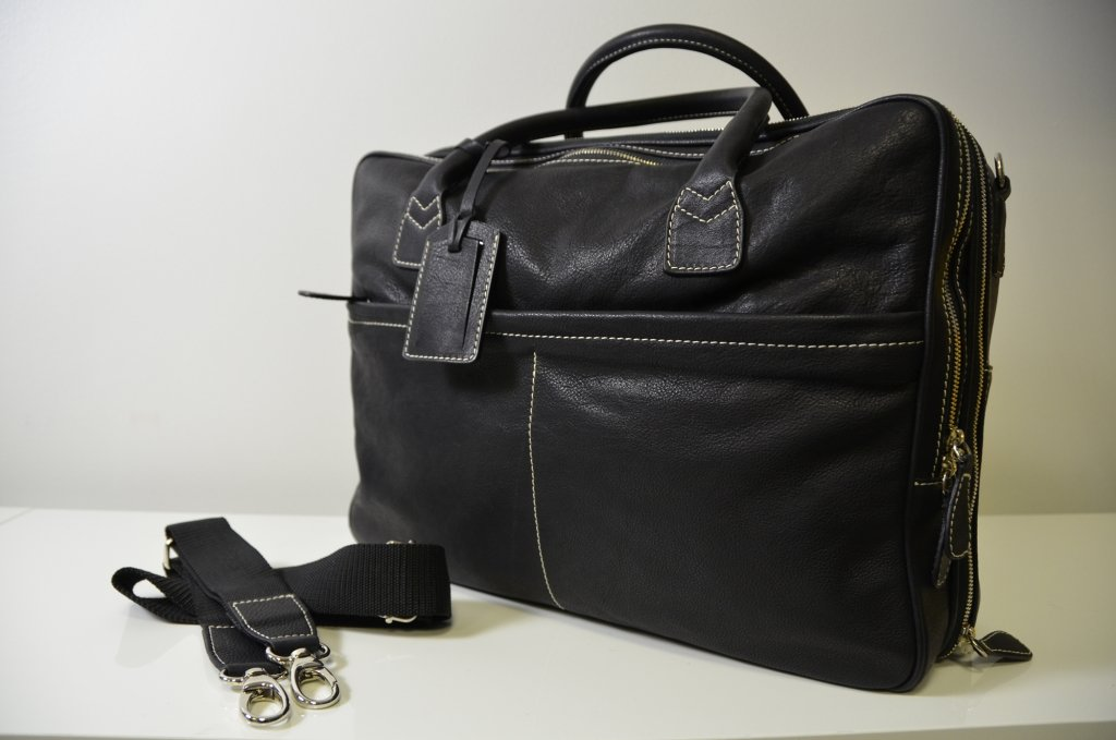 LA RANCIA 100% Genuine Calf Leather Bag all in Black