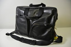 Soft Black Leather Messenger Shoulder Strap Bag from TRAMONTANO NAPOLI 100% Made in Italy