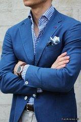 Синий блейзер