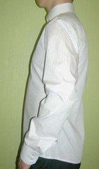Приталенная, итальянский воротник, узкий рукав