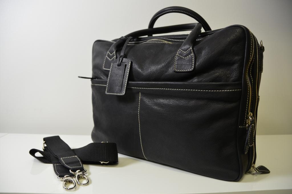 LA RANCIA 100% Genuine Calf Leather Bag all in Black