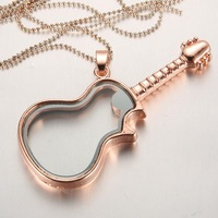 10 piece Rose gold plated guitar magnetic glass floating charm locket memory neclaces pendants jewelry  Jpg 200x200