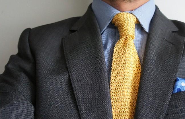 Вязаный галстук своими руками 63